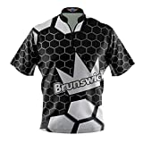 Bowling Jersey Dye-sublimated Product 1/2 collar, 1/4 zipper (Sash Collar) 4.3 oz, 100% Polyester, moisture-wicking Made in USA