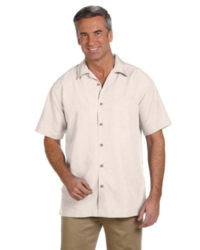 Harriton Men's Barbados Textured Camp Shirt (M560)- CREME,XL