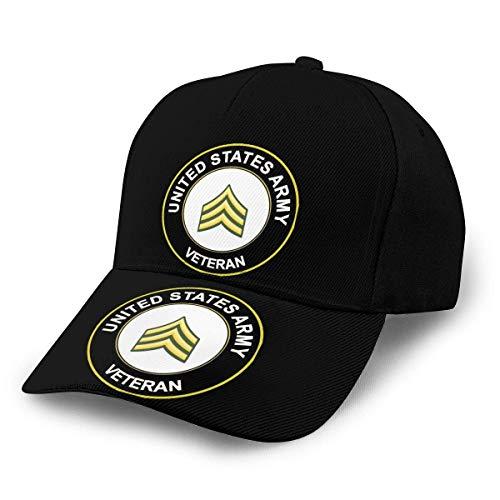 Sargento del Ejército de EE. UU. Veterano Sombreros unisex para adultos Gorras de béisbol clásicas Gorra con visera