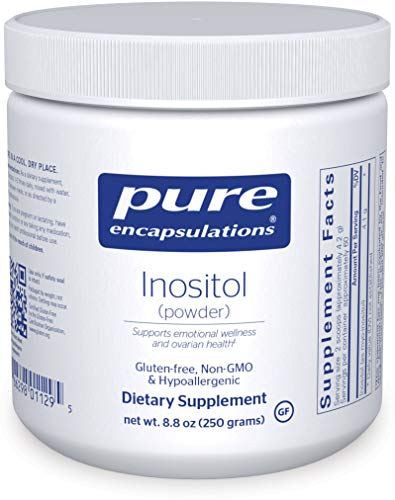 Pure Encapsulations - Inositol (Powder) - Hypoallergenic Supplement Supports Healthy Mood, Emotional Wellness and Behavior, and Ovarian Function - 8.8 Ounces