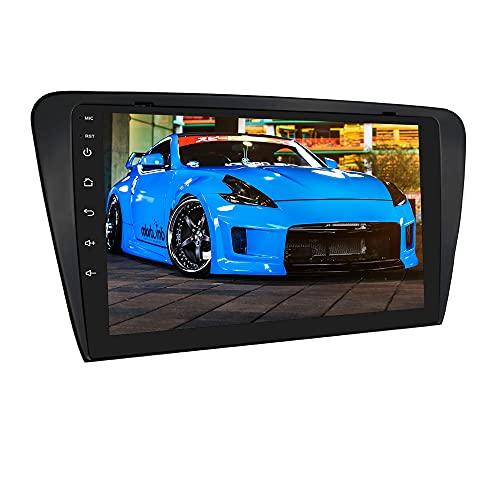 Autoradio Android 10 Stereo con touch screen da 10,1 pollici adatto per SKODA Octavia 3 2013-2018, supporta WiFi e 4G LTE Navigazione GPS Bluetooth DSP Controllo del volante USB