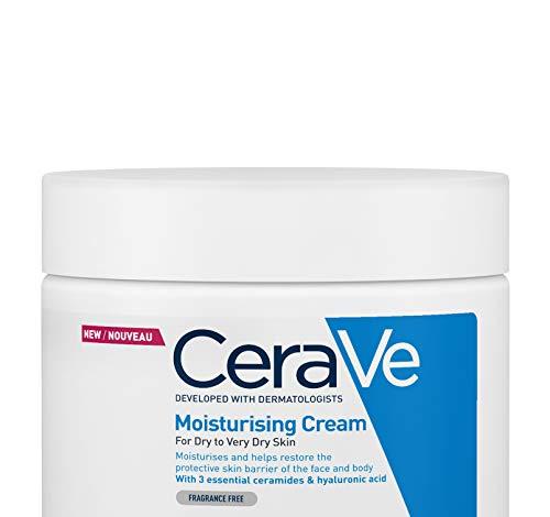 CeraVe, Crema Idratante, 454g / 16oz, Crema idratante quotidiana per viso, corpo e mani