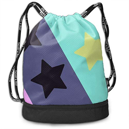 LULABE Traveling Swim Gym Beam Backpack Universe Stars Stripes Beam Backpack Basketball, Volleyball, Baseball Daypack for Boys Teens Youth Birthday Party