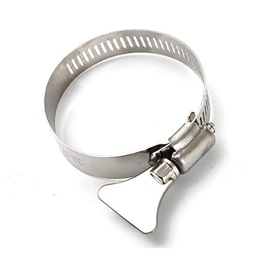 Abrazadera de clip de manguera, 5pcs / set 33-57mm Abrazadera de manguera de acero inoxidable de acero inoxidable con - Tubo de tubería de combustible Clips de agua