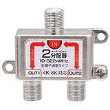 オーディオファン アンテナ 分配器 3224MHz 8K 4K 対応 ノイズ抑制 全端子電流通過型 AFSPL (2分配)