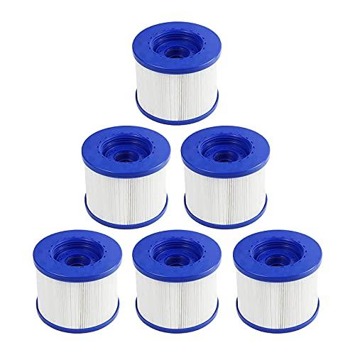 YZHY - Cartuchos filtrantes para Spa, cartucho de filtro de tornillo para Spa hinchable, paso de tornillo, 60 mm, filtro para Jacuzzi Spa hinchable, cartucho de filtro (lote de 6)