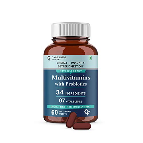 Carbamide Forte Multivitamin for Men & Women with 34 Ingredients - 60 Tablets