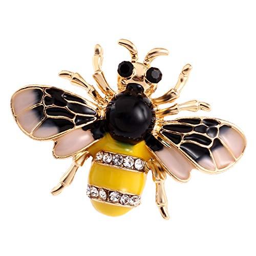 Hellery Rhinestone Retro Abejorro Abeja Broche Pin Disfraz Insignia Joyería De Las Mujeres De Navidad