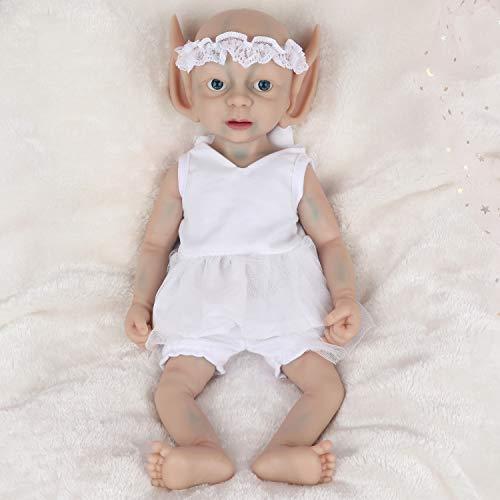 Vollence Duende Muñeco Natural recién Nacido de 38 cm Que Parece Real. Libre de PVC. Similar a un bebé Real Lleno de Peso. Hecho a Mano. Muñecas bebé de colección con Ropa - Chica
