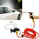 MASO Portable High Pressure Washer 12V, Car Electric Water Cleaner Wash Pump Kit +Jet Wash Cleaner Hose for...