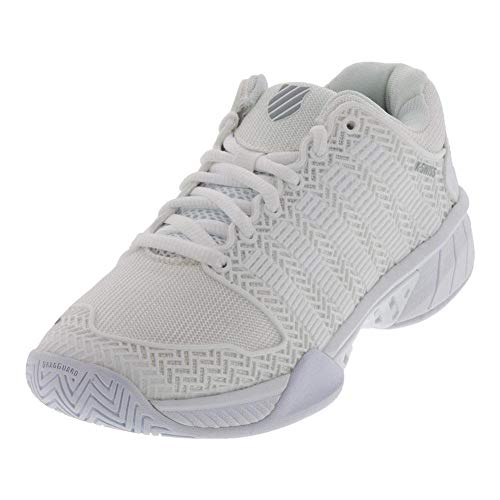 K-Swiss Women's Hypercourt Express Tennis Shoe (White/Highrise, 5)