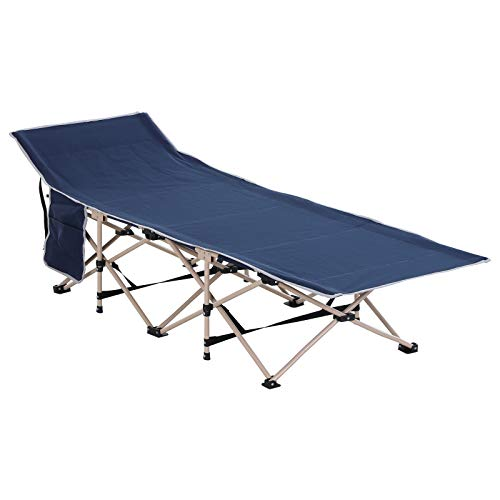 Outsunny Single Person Camping Folding Cot Outdoor Patio Portable Military...