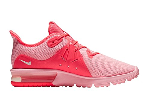 NIKE Women's Air Max Sequent 3 Hot Punch/Summit White/Arctic Punch Nylon Running Shoes 7.5 B(M) US