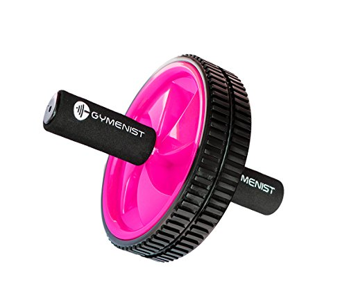 GYMENIST Abdominal Exercise Ab Wheel Roller with Foam Handles, Great Grip, Double Wheels, Top...