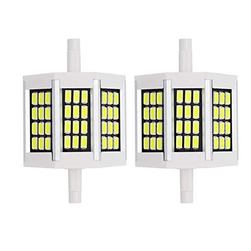 Bombillas LED R7S, Bombillas LED De Aluminio De Doble Extremo R7S 5W-20W 5733SMD Resalte La Bombilla LED 3000/6500 (K) 85-265V, Paquete De 2,Warm White,5W