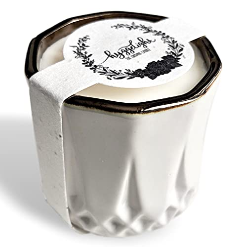 Hyggelight   The Growing Candle   Tired of Tossing Containers? Try Our Less-Waste Solution. 8.5 oz, 45 hr Burn Time, 100% Soy Wax, Cotton Wick, Handmade Reusable Pot. Astrid   Sandalwood + Vanilla