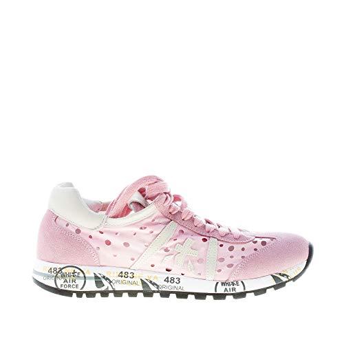 PREMIATA Lucy 1444 - Zapatillas deportivas para mujer, de ante y tela laserada, color rosa Rosa Size: 37 EU