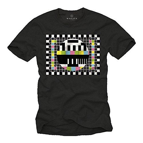 Maglietta Sheldon Testscreen T-Shirt Big Bang Theory Nerd Nera L