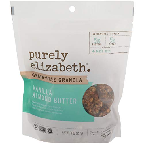 Purely Elizabeth, Granola Vanilla Almond Butter Collagen Grain Free, 8 Ounce