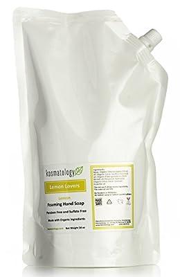 Kosmatology Lemon Lover's (Lemon) Organic Foaming Hand Soap Refill Bag, 34 fl oz