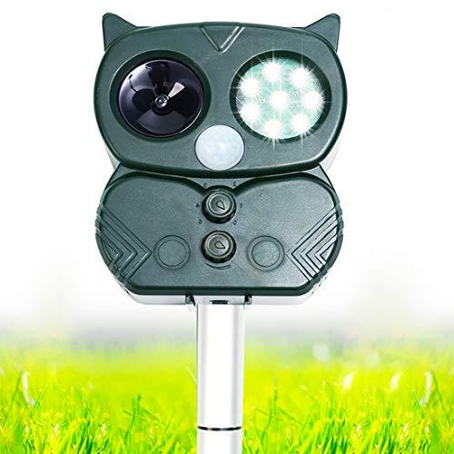 Chomang Ultraschall Katzenschreck - Solar Katzenschreck Tiervertreiber für Garten - Wiederaufladbare Vogelabwehr Marderabwehr für Katzen Hunde Mäuse Füchse mit 5 Modus Einstellbar