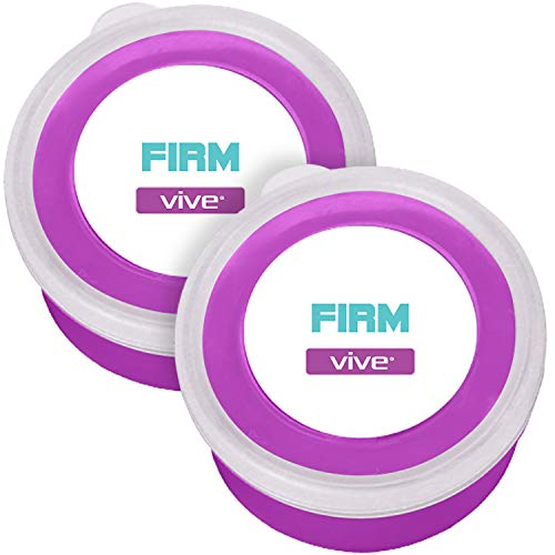 Vive Therapy Putty Firm (2-Pack) for Finger, Hand & Grip Strength Exercises - Extra Soft, Soft, Medium and Firm Resistance Kit for Occupational, Physical Therapy, Thinking and Stress
