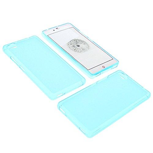 foto-kontor Tasche für ZTE Nubia Z9 Mini Gummi TPU Schutz Hülle Handytasche blau