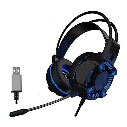TNXB NOCTIC Casque de jeu PS4 avec suppression du bruit Mic Fonctionne avec PS4, Nintendo Switch, PC Mac