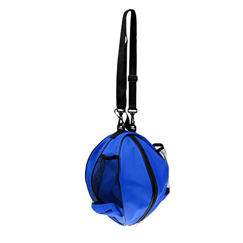 sharprepublic Balltasche für einen Ball Fußball Ballkorb Ballsack Balltragetasche Fußballtasche Schultertasche - Blau-Schwarz