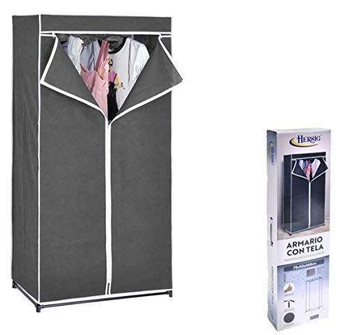 HERSIG Armario de Tela ropero Estante Lona Ropa guardarropa Closet 160x75x50cm /63117