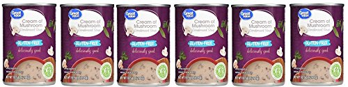 Great Value Gluten-Free Cream Of Mushroom Condensed Soup, 10.5 oz, Pack of 6