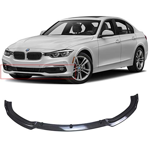 NINTE Front Lip for 2013-2018 BMW F30 F35 3 Series Base Bumper, ABS Carbon Fiber Coating Bumper Spoiler for 320i 325i 328i 335i Base Bumper