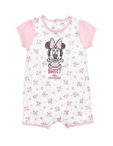 Minnie Coffret Barboteuse bébé Fille Blanc et Rose de 6 à 24mois - Blanc/Rose, 12 Mois