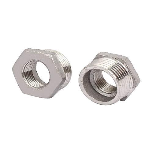New Lon0167 1' 'NPT Destacados rosca macho, diámetro eficacia confiable 1/2' 'NPT, buje hexagonal hembra, accesorios de tubería 2 piezas(id:d0c 28 10 bba)