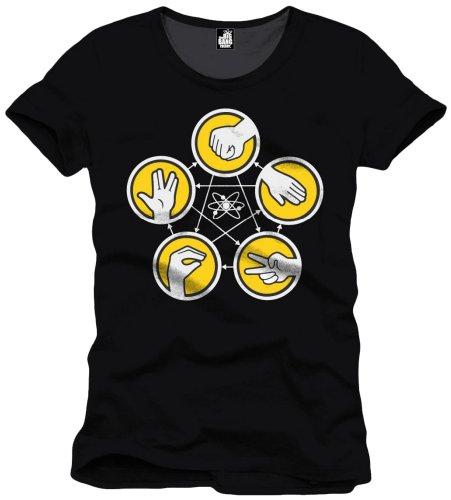 The Big Bang Theory Pierre, Feuille, Ciseaux, Camiseta para Hombre, Negro L/L