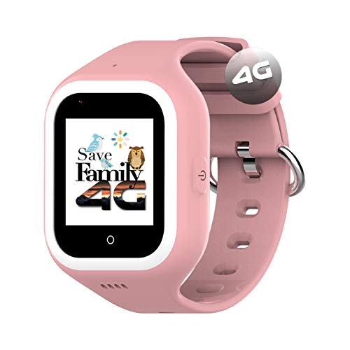 Reloj-Smartwatch 4G Iconic con Videollamada & GPS instantáneo Infantil y Juvenil SaveFamily. WiFi, Bluetooth, cámara, Fondos de Pantalla, identificador de Llamadas, Boton SOS Waterproof. (Rosa)
