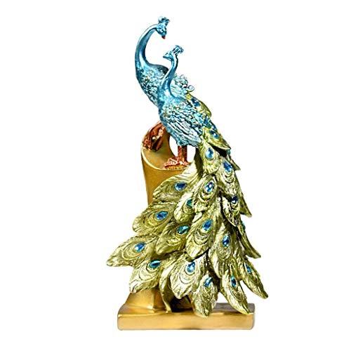 XZJJZ Decoración de Escultura: decoración de Escultura de jardín de pie de Pavo Real Decorativo, Obra de Arte de Estatua de jardín Interior al Aire Libre