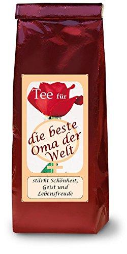 Beste Oma der Welt - Tee mit Name - Geschenkidee individuell und persönlich - Wunschname auf Ihrer Teetüte - alle Namen möglich