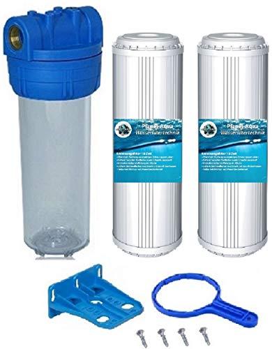 Planet-Aqua Filtergehäuse Set DUOS 10 Zoll 3/4