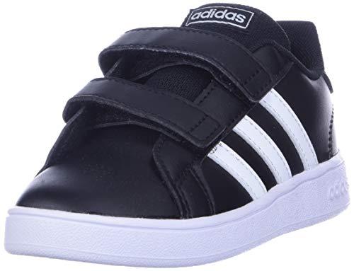 adidas Baby Unisex's Grand Court I Tennis Shoe, Black/White/White, 5.5K