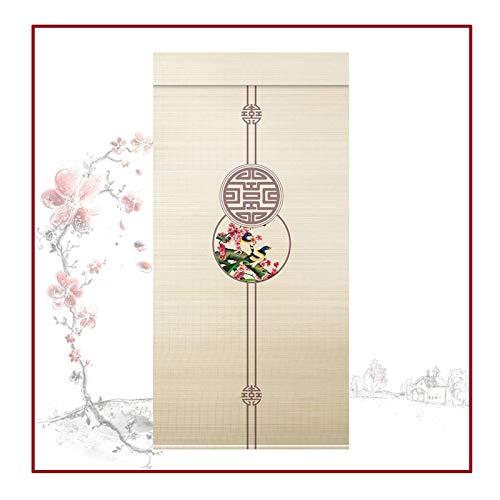 QIANDA Persiana De Bambú,Estilo Japones Cortina Filtrado De Luz Interiores Enrollar Pantalla De Privacidad Fácil Instalar para Casa Cuarto Oficina, Personalizable (Color : B, Size : 50X130cm)