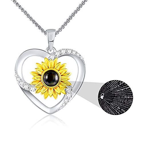 SNZM I Love You Heart Necklace for Girlfriend