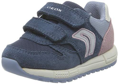 Geox Baby-Mädchen B ALBEN Girl A Sneaker, AVIO/Sky, 22 EU