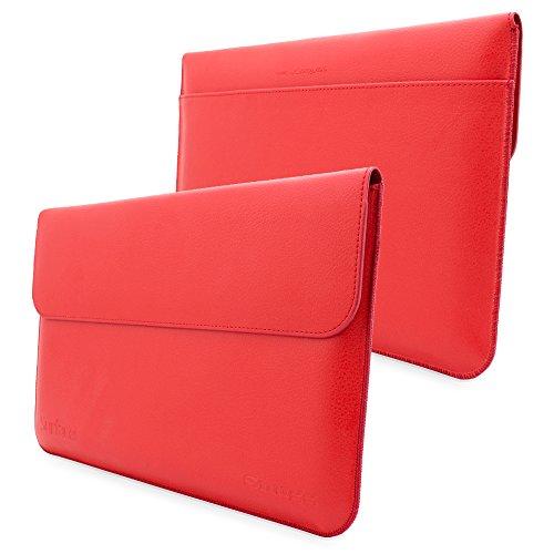 Snugg Custodia per Surface 3, Custodia in Ecopelle Rosso di Alta Qualità con Garanzia a Vita per Surface 3