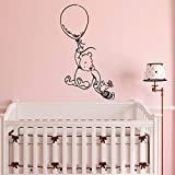 ZGQQQ Winnie The Pooh Wall Stickers For Kids Room Classic Winnie The Pooh Nursery Wall Decals Baby Room Girl Boys Bedroom Mural