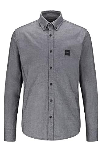 BOSS Mabsoot_1 Camisa, Negro1, XL para Hombre