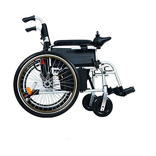 DLY Älterer Behinderter Faltbarer Antrieb Elektrischer Erwachsener Rollstuhl/Elektrisch/Handbuch für die Älteren Innenrollermobilität im Freien 24Ah Batterie