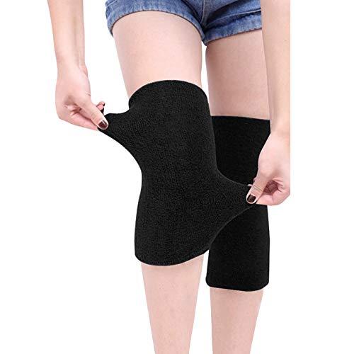 JIAHG Winter-Kniebandage für Herren und Damen, warm, dick, Thermo-Strick-Kniebandage, Unisex, elastische Baumwolle, Knieschützer, rutschfest, Knieschutz für Schmerzlinderung, wärmende Knie, 1 Paar