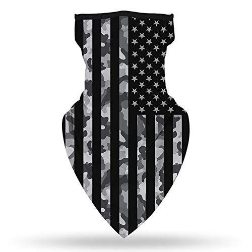 Cloverclover Usa Flag Outdoor Kopftuch, Mikrofaser Flag UV Schutz Gesicht Hals Maske Männer Und Frauen Kopfschmuck Für Motorrad Trekking Snowboard, Typ 2