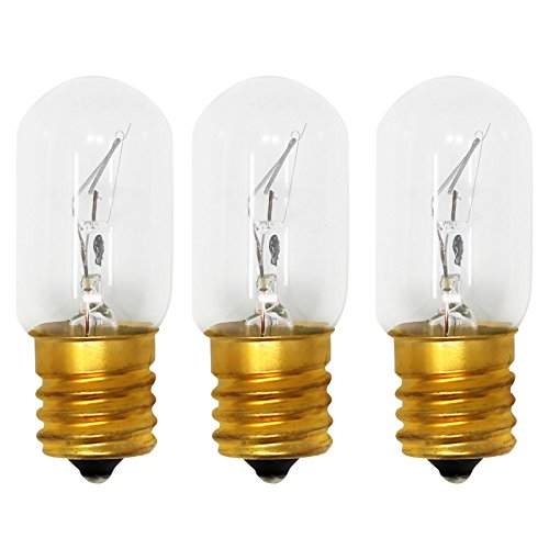 3-Pack Replacement Light Bulb for MMV5208WS1 Microwave - Compatible with 8206232A Light Bulb